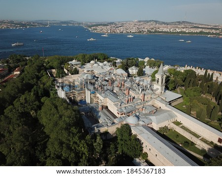 İstanbul Topkapi Palace Drone Above Aerial  Royalty-Free Stock Photo #1845367183