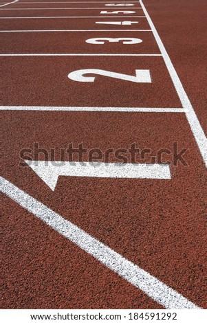 Running Track Start  #184591292