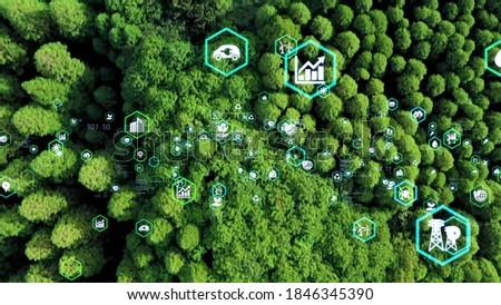 Environmental technology concept. Sustainable development goals. SDGs. Royalty-Free Stock Photo #1846345390
