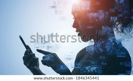 Mobile communication network concept. IoT (Internet of Things). Telecommunication.
