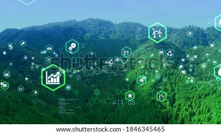 Environmental technology concept. Sustainable development goals. SDGs. Royalty-Free Stock Photo #1846345465