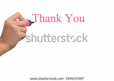 Business hand writing Thank You concept  #184651487