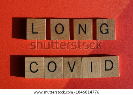 Long Covid, a condition some people experience after Covid-19, including recurring symptoms affecting the respiratory system and heart Royalty-Free Stock Photo #1846814776