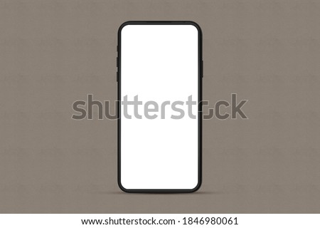 Mobile Smartphone, Cell Phone Mockup for Mobile Application, Website, Game, Business Presentations, UI UX Design Template. mockup template with a clipping path on the screen. 3D Rendering