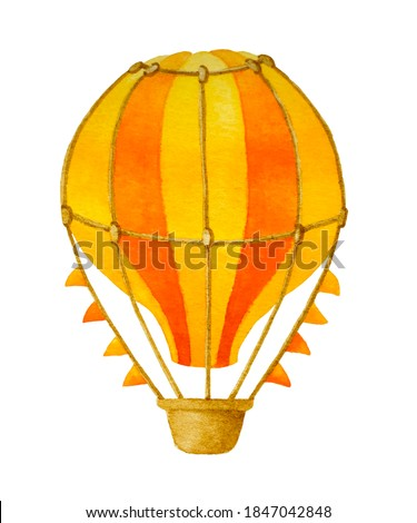 Hot air ballon watercolor illustration, Boy clipart, Design kids, T-shirt