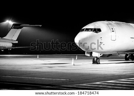 airplane front close up photo