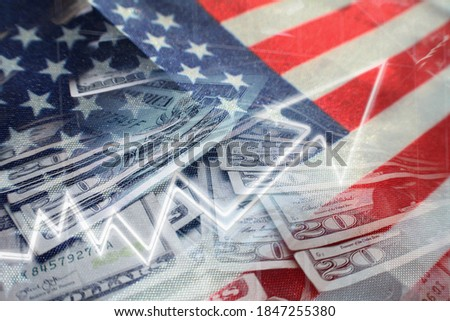 United States Stock Market/Economy Booming Through Strong Job Growth & GDP Data Statistics  Royalty-Free Stock Photo #1847255380