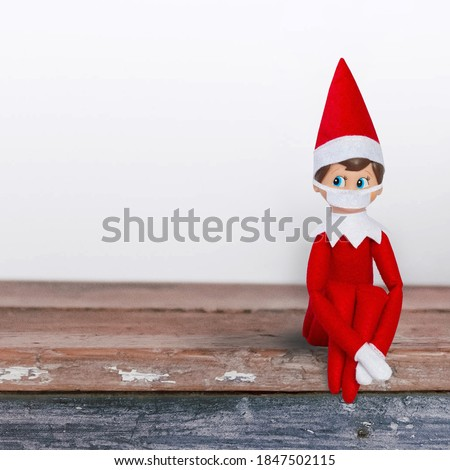 Elf on Shelf with face mask social distancing #1847502115