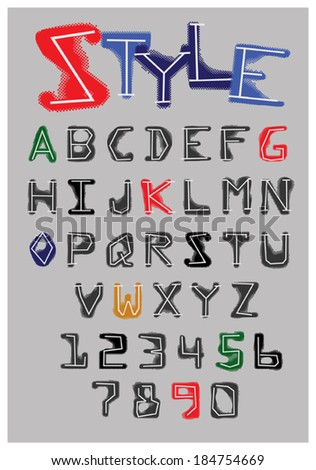 Sketch Alphabet  #184754669
