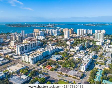 Downtown Sarasota City Florida Skyline Royalty-Free Stock Photo #1847560453