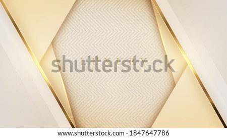 Luxury light yellow pastel abstract background combine with golden lines element, Illustration from vector about modern template deluxe design. Royalty-Free Stock Photo #1847647786