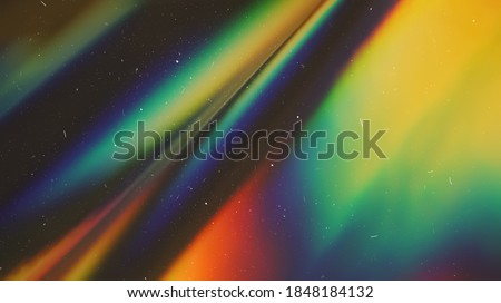 Dusted Holographic Abstract Multicolored Backgound Photo Overlay, Screen Mode for Vintage Retro Looking, Rainbow Light Leaks Prism Colors, Trend Design Creative Defocused Effect, Blurred Glow Vintage  Royalty-Free Stock Photo #1848184132