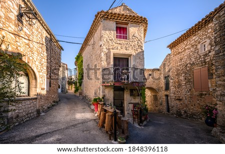 Old narrow streets in Europe. European narrow streets. Streets in old town #1848396118