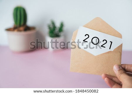 New year 2021 is coming creative inspire idea concept. New start for planing or set new resolution in life .Business solution.