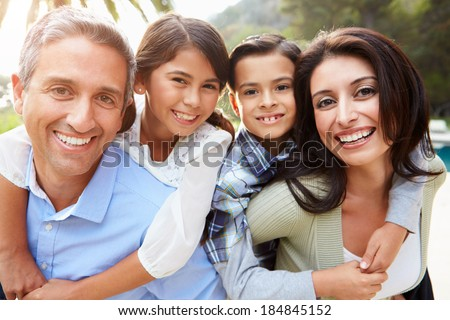 Portrait Of Hispanic Family In Countryside #184845152