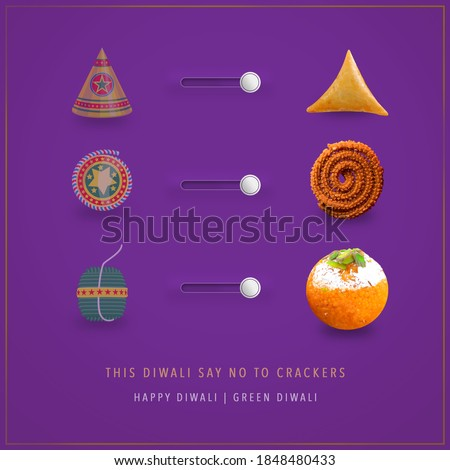 This Diwali say no to crackers. Switch to green & Happy Diwali. Exchange Happiness with goodness of food.