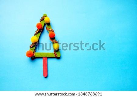 small Christmas tree made of sticks