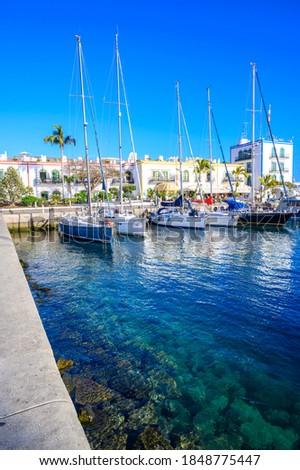 Puerto Mogan - beautiful scenery at coast of Gran Canaria - Canarian Islands of Spain #1848775447