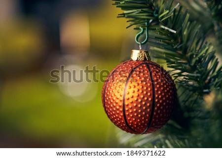 Christmas season basketball decoration bauble.