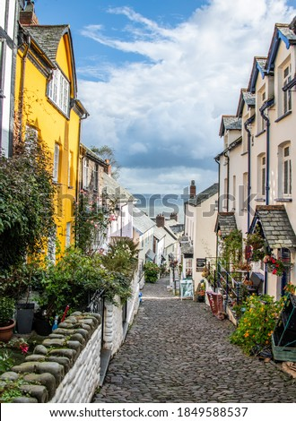 The beautiful coastal village of Clovelly in Devon Royalty-Free Stock Photo #1849588537