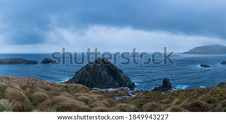 Cape Horn in Cape Horn National Park within Cape Horn Island of Tierra del Fuego Archipelago of Magallanes and Chilean Antarctica Region in Chile, South America Royalty-Free Stock Photo #1849943227