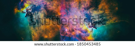 High quality space background. Elements of this image furnished by NASA. Royalty-Free Stock Photo #1850453485