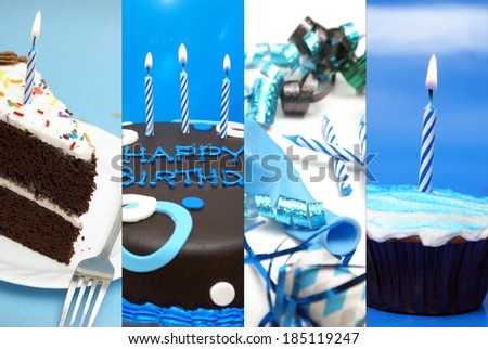 A festive collage of birthday images to celebrate the occasion.
