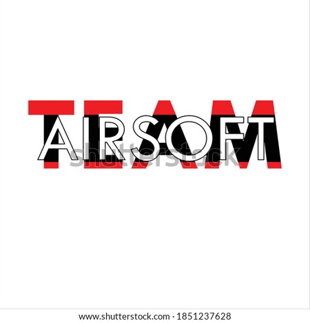 Team Airsoft Background white Illustration