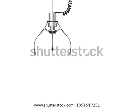 Claw crane, Skill crane, Gripper arm an automatic crane toy,  Vector illustration isolated on white background  Royalty-Free Stock Photo #1851619231