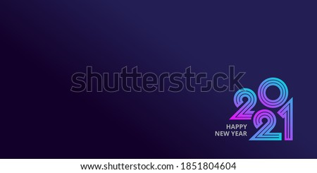 Happy new year 2021 template banner background Royalty-Free Stock Photo #1851804604