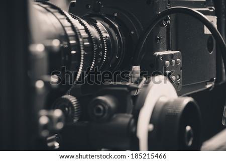 close up of Professional digital video camera #185215466