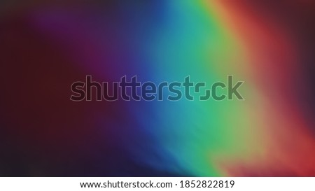 Multicolored Film Burn Light Photo Overlay, Using Screen Mode, Abstract Background, Rainbow Lens Leaks Prism Colors, Trend Design, Creative Defocused Effect Royalty-Free Stock Photo #1852822819