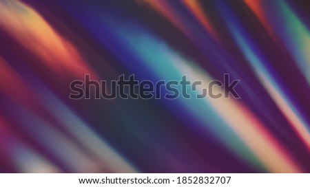Multicolored Film Burn Light Photo Overlay, Using Screen Mode, Abstract Background, Rainbow Lens Leaks Prism Colors, Trend Design, Creative Defocused Effect