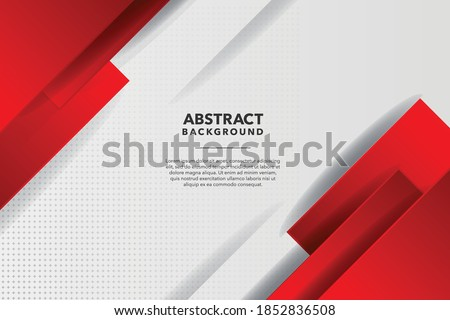 MODERN ABSTRACT RED AND WHITE BACKGROUND  Royalty-Free Stock Photo #1852836508