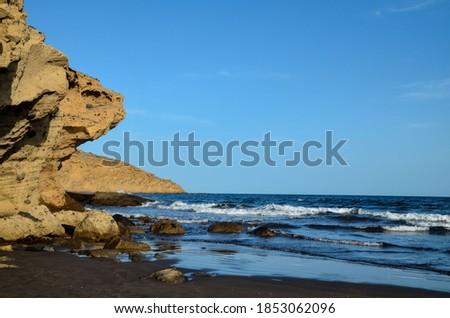 Photo Picture of the Beautiful Ocean Coast's View Montana Amarilla La Pelada Tenerife