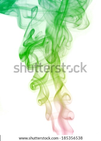 Fantasy smoke abstract on white background. #185356538