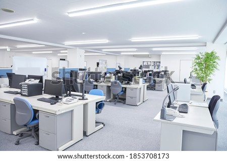 view of the office, no people Royalty-Free Stock Photo #1853708173