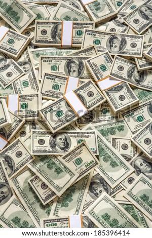 Money background / studio photography of American moneys of hundred dollar