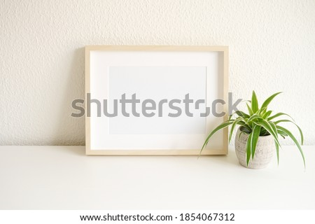 mockup of a empty frame in landscape layout