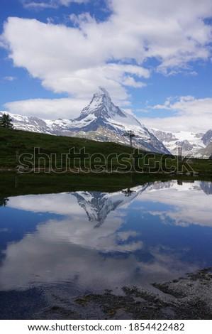 switzerland zermatt moutain picture in lake