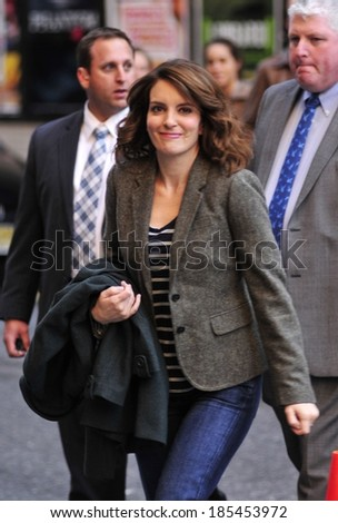 Tina Fey at talk show appearance for The Late Show with David Letterman - WED, Ed Sullivan Theater, New York, NY November 3, 2010 #185453972