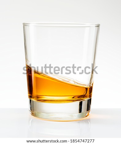 Whiskey served neat in a glass
