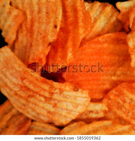 chips picture close up,snacks, and picture detail, snack made from potatoes