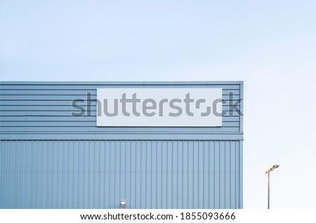 Mockup sign empty for warehouse Logistics Center