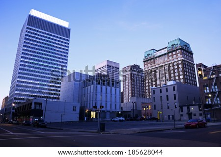 Early Morning in downtown Memphis, Tennessee, USA.