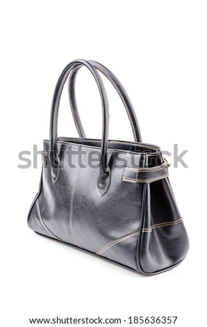 Woman leather bag isolated white background #185636357