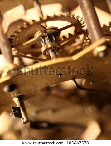 Close up of a internal clock mechanism #185667578