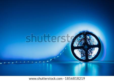 led strip blue light roll Royalty-Free Stock Photo #1856818219