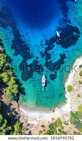 gocek ıslands drone photos mugla Turkey