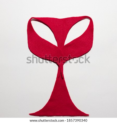 symbol.red owl on white background